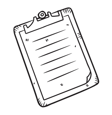 doodle art clipart: clipboard in doodle style