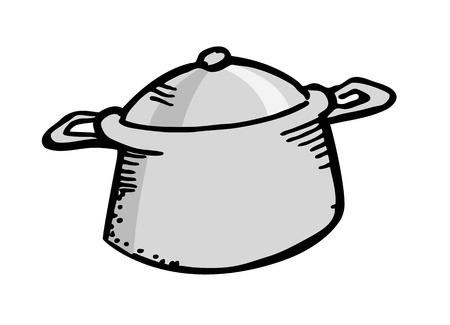 ware: cook ware in doodle style