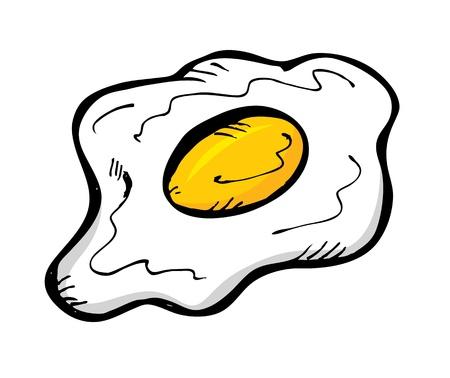 fried eggs: fried egg hand drawn