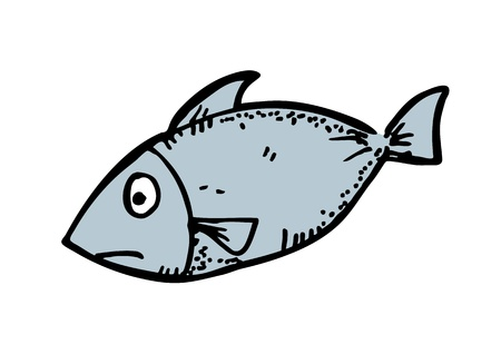 raw fish hand drawn Vector
