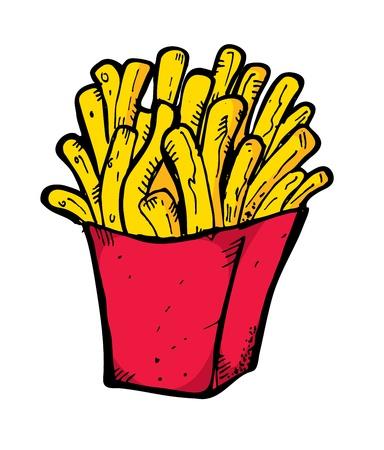 papas fritas: franc�s elaborado a mano papas fritas
