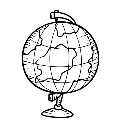 globe in doodle style Vector