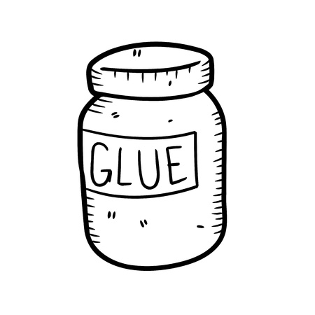 adhesive bottle in doodle style Vector