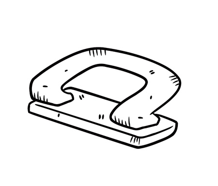 puncher: hole puncher in doodle style