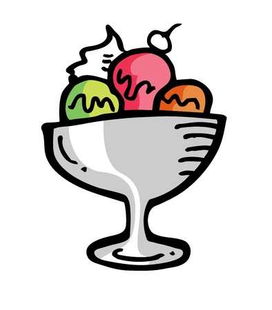 ice cream in doodle style Vector