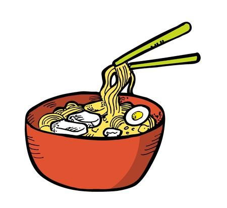 meat soup: ramen in doodle style