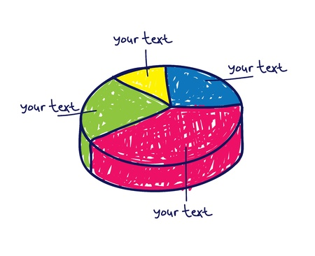 pie chart in doodle style Stock Vector - 13586976