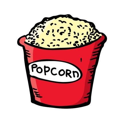 pop corn in doodle style Vector