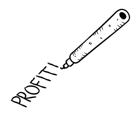 profit hand writing in doodle style Stock Vector - 13586901