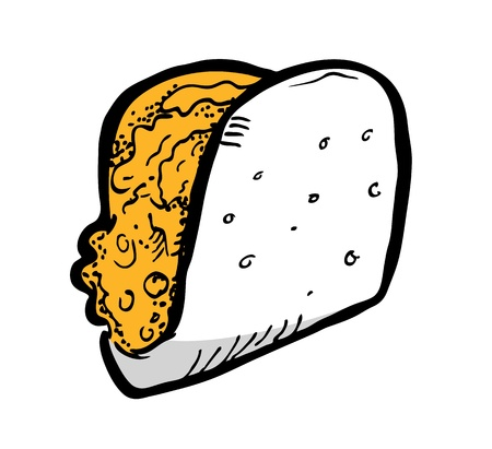 sandwich in doodle style Vector