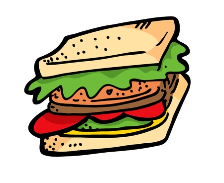 sandwiches: sandwich in doodle style Illustration