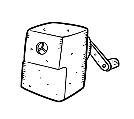 pencil sharpener: sharpener in doodle style