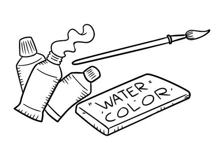 Kolor wody w Doodle stylu