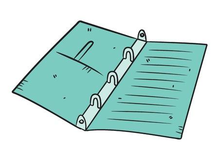 sketchbook: binder in doodle style