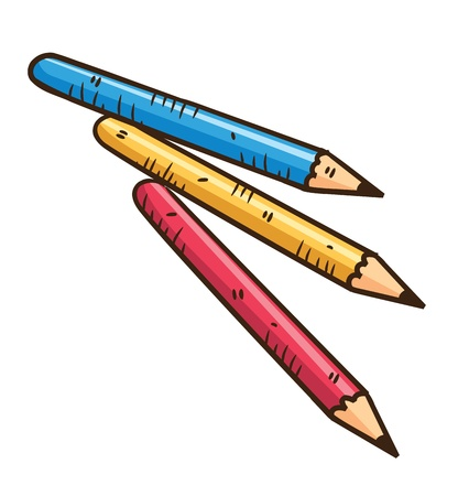 crayon de couleurs: crayon de couleur Illustration