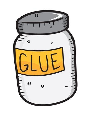 glue: Leim Flasche