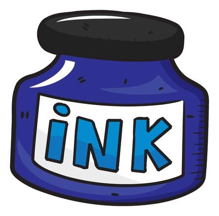 ink bottle: ink bottle doodle