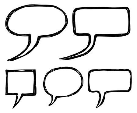 hand drawing bubble speech Stock Vector - 14232669