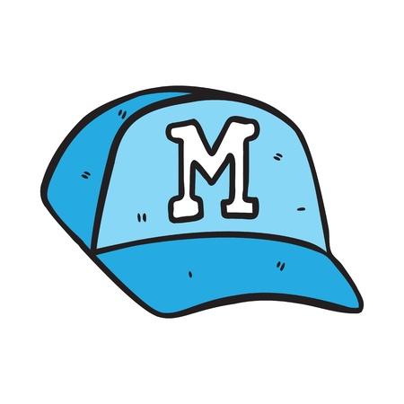 baseball cap in doodle style Vector