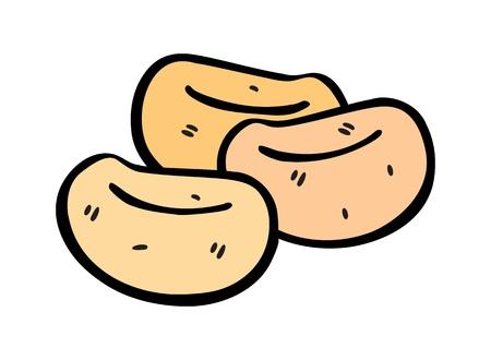sojabonen in doodle stijl Vector Illustratie