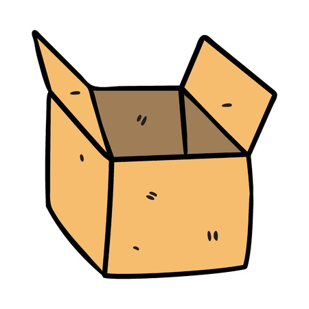 box in doodle style Vector