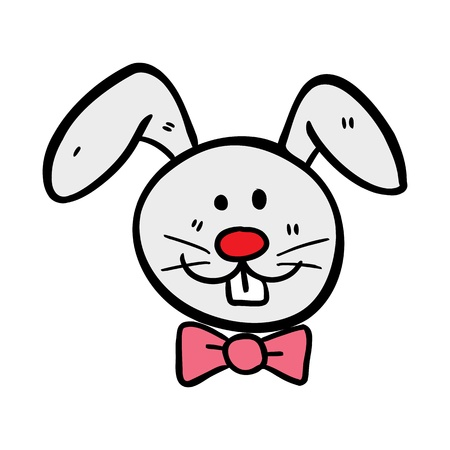 cute rabbit in doodle style Vector