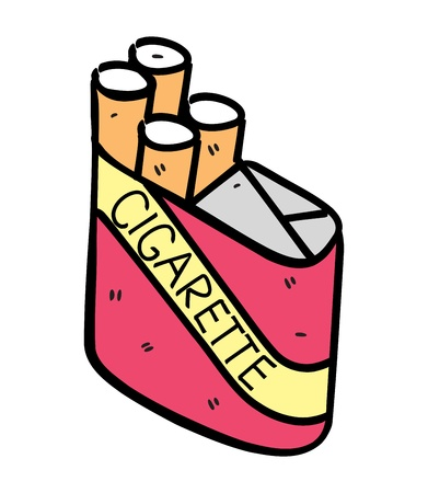 cigarette in doodle style Vector