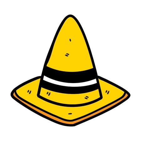 cone in doodle style Vector