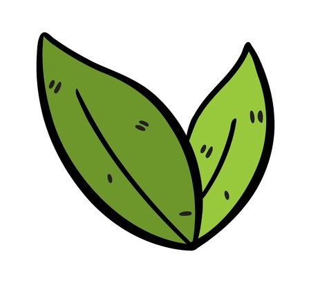 plant to drink: tea leaves doodle