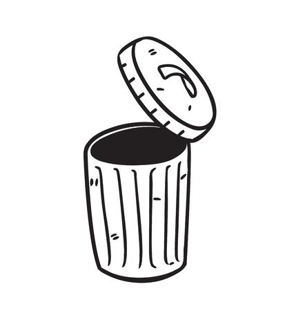 cesto basura: abrir cubo de la basura