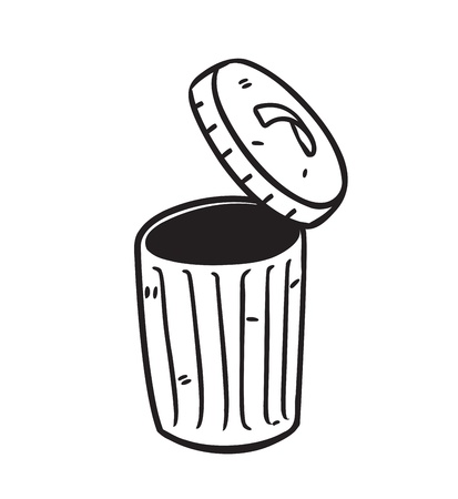 open trash bin Vector