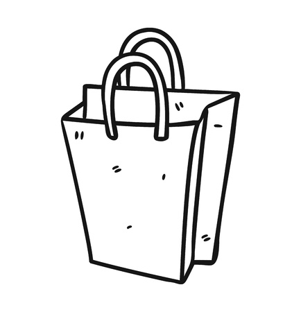 shopping bag in doodle style Vector