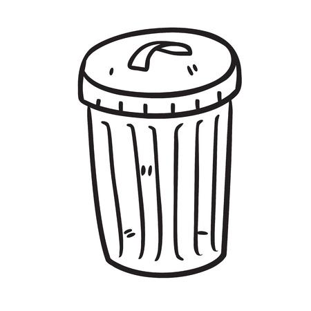 cesto basura: la basura bin Vectores