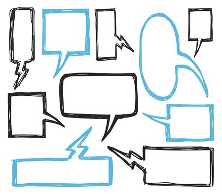 chat balloon: set of bubble speech