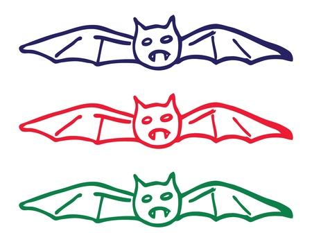 bat doodle Stock Vector - 14475632