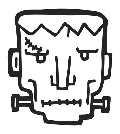 frankenstein doodle Vector