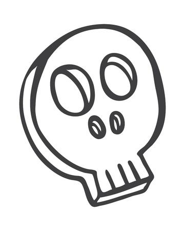 skull doodle Stock Vector - 14475612