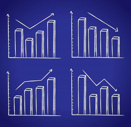 graphic chart doodle Vector
