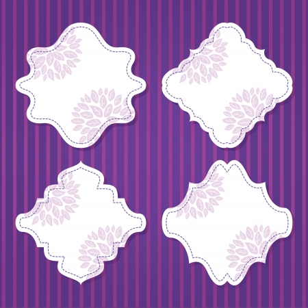 set of editable vector frame Vector