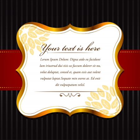 royal invitation: elegant frame, fully editable