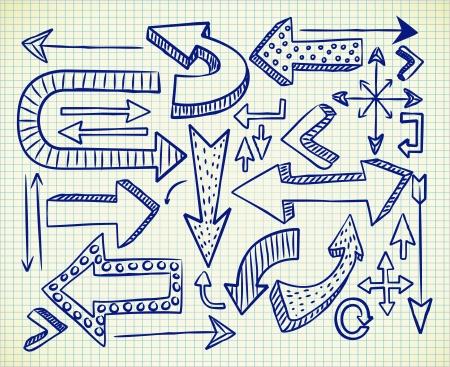 doodle art clipart: arrow doodle Illustration