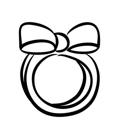 cute ring with bow Stock Vector - 14580492