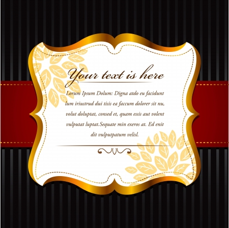 royal invitation: vintage frame