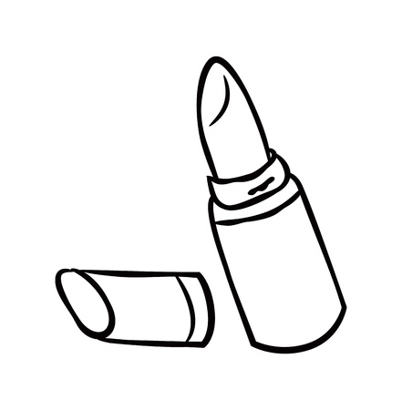 lipstick tube: lipstick doodle Illustration
