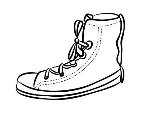 sneaker doodle Vector