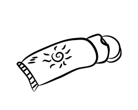 sunblock: sunblock doodle Illustration
