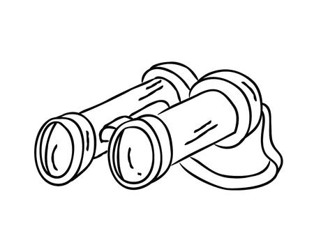 binocular doodle Stock Vector - 14580514
