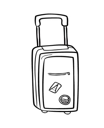 old suitcase: travel back