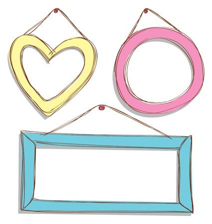 cute frame doodle Vector