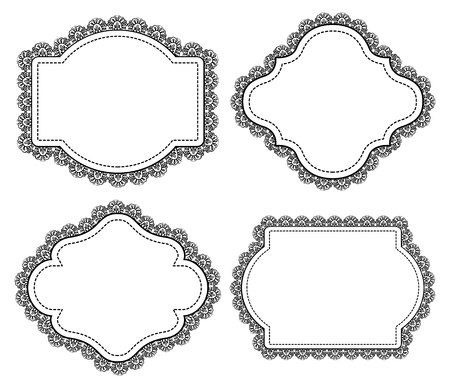 vintage frame with lace Vector